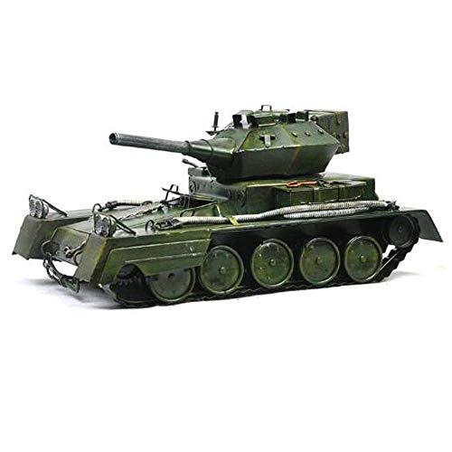 Z H HK Segunda Guerra Mundial del Vintage Ornamentos del Tanque Apoyos De La Fotografía En Casa De Hierro Muebles Modelo De Visualización De La Barra Coche (L * W * H) 35 * 18 * 14cm Adornos