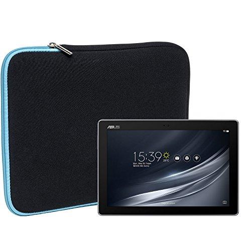 Slabo Tablet Tasche Schutzhülle für Asus ZenPad 10 Z301MFL Hülle Etui Hülle Phablet aus Neopren – TÜRKIS/SCHWARZ