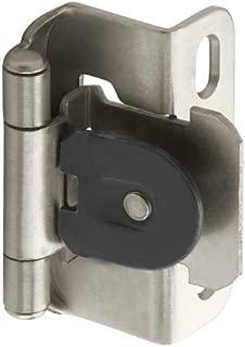 Amerock BPR8719G10 1/2in (13 mm) Overlay Single Demountable, Partial Wrap Satin Nickel Hinge - 2 Pack
