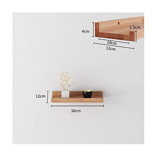 JIE KE Estantes flotantes de madera de roble, soporte para decoración del hogar, soporte moderno de oficina, estante de madera, estante de pared, organizador de almacenamiento (color: 12 x 30 cm)