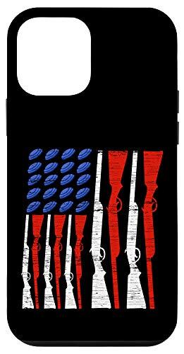 iPhone 12 mini Skeet Shooting USA Flag Trap Shooting Clay Pigeon Case