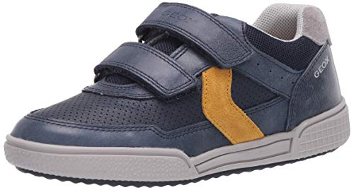 Geox Jungen J Poseido Boy A Sneaker, Blau (Navy/Dk Yellow C4229), 32 EU