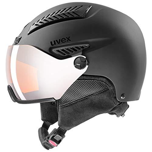 uvex Unisex- Erwachsene, hlmt 600 visor Skihelm, black mat, 55-57 cm