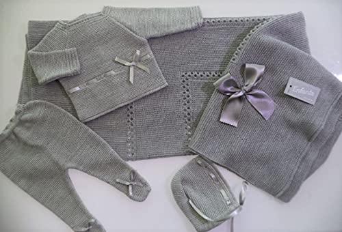 Conjunto bebe recien nacid0 (gris, 0-3 meses)