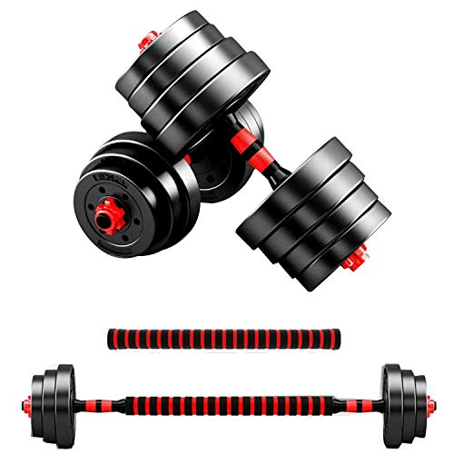 Dumbbells Barbell Weight Set Adjustable Adjustable Weights Set Gym Barbell Bar Barbell Set Free weights for Men 2 in 1 10KG / 20KG / 30K / 40GKG (40kg)