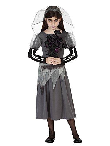 Atosa-26422 Disfraz Novia Zombie 7-9, color gris, 7 a 9 años (26422) , color/modelo surtido