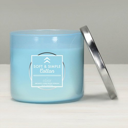 GOOSE CREEK Elixir geurkaars glas 3 lonten Soft & Simple Cotton 425 g