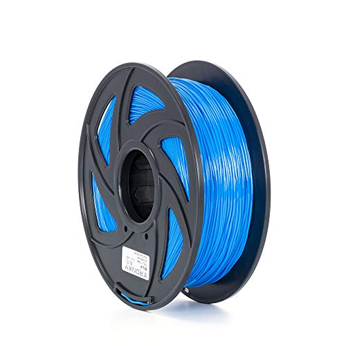 Tronxy Flexible TPU 3D Printing Filament, Dimensional Accuracy +/- 0.05 mm ,1kg Spool (2.2 lbs.), 1.75 mm, 1 Pack (Blue),Hardness 95A