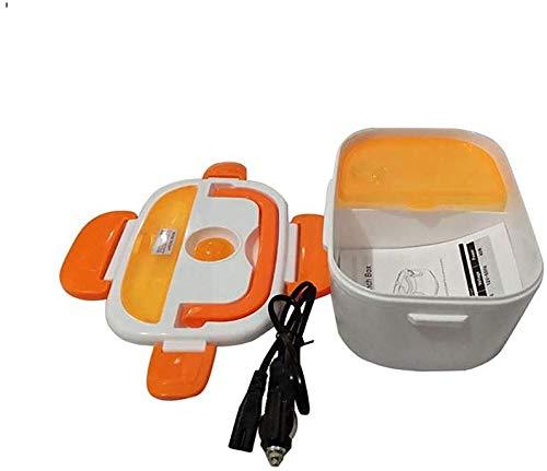 Chauffage électrique Gamelle 12V voiture portable for les enfants Repas Préparation Bento Box chauffée des contenants Thermos Boîte à lunch for la nourriture, vert jszzz (Color : Orange)