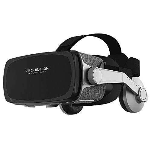 VR SHINECON [New Version ] VR Headset,Virtual Reality Headset, VR Goggles for Movies, Video,Games - 3D VR Glasses for iPhone, Android and Other Phones Within 4.7-6.2 inches