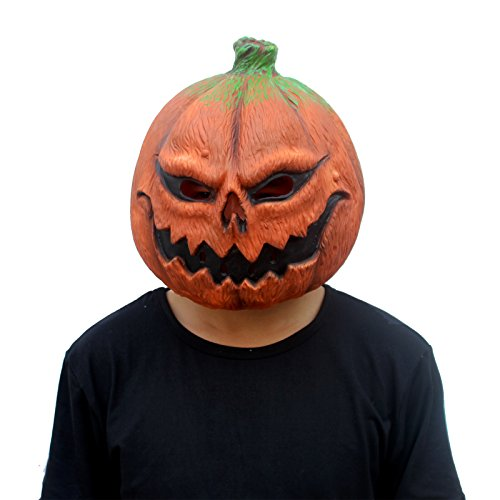 CreepyParty Festa in Costume di Halloween Maschera in Lattice a Testa Zucca