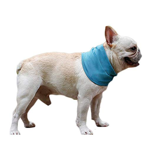 NACOCO 2 Pcs Dog Instant Cooling Scarf Summer Pet Bandana Cats Collar Ice Towels for Bulldog (M)