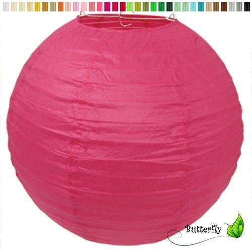 Creativery Papier Lampion 25cm (Fuchsia/pink 187) // Laterne Hochzeit Party Wohnungsdeko Hängedeko Raumdeko Geburtstag Party Feier
