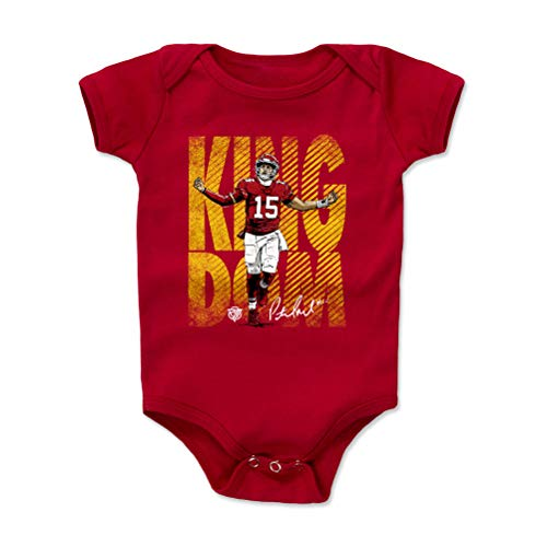 1UP Sports Marketing Patrick Mahomes Baby Clothes, Onesie, Creeper, Bodysuit (Onesie, 3-6 Months, Red) - Patrick Mahomes Kingdom WHT