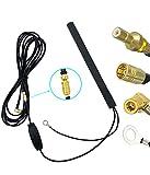 Vecys Dab Dab+ Antena Coche Antena Parche Dab Amplificador Señal 15dBi Adaptador SMB Antena Montaje en Vidrio Cable RG174 3,5m 11,5ft Compatible con Dab Car Radio Pioneer Clarion Kenwood Alpine JVC