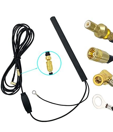 Vecys Dab Dab+ Antena Coche Antena Parche Dab Amplificador Señal 15dBi Adaptador...