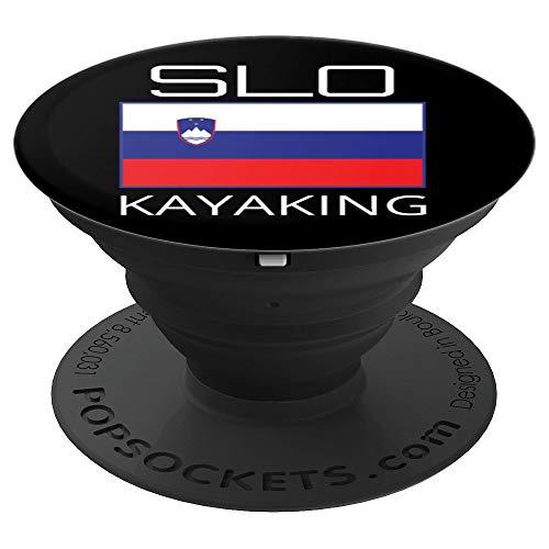 Slowenien Kajak Team Slovenian Kajaker SLO Flagge Pride - PopSockets Ausziehbarer Sockel und Griff für Smartphones und Tablets