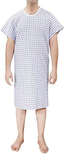 Ruvanti 4 PK Cotton Blend Hospital Gown Fit Up to 2XL for Medical Labor delivery product image