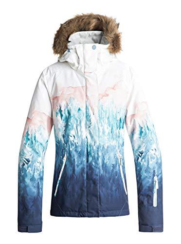 Roxy Damen Snow Jacket Jet Ski SE, bright white-snowyvale, L, ERJTJ03184