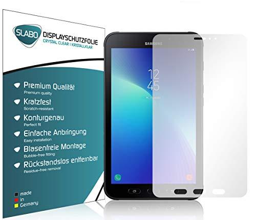 Slabo 2 x Bildschirmschutzfolie für Samsung Galaxy Tab Active 2 Bildschirmschutz Schutzfolie Folie Crystal Clear unsichtbar Made IN Germany