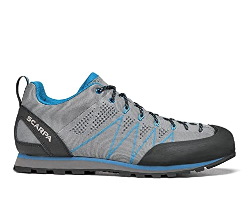 SCARPA Men's Crux Air Lightweight Hiking and Approach Shoes - Smoke/Lake Blue - 9-9.5