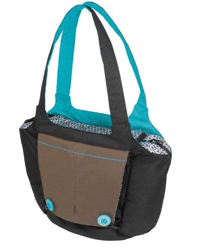 Hoppop 32130063 - Boosti'Bag, Wickeltasche und Sitzerhöher in einem, choco bloom