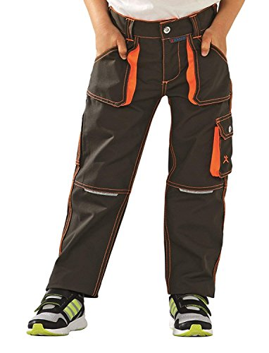 6112 Planam Basalt Junior Bundhose in verschiedenen Farben, Arbeitshose für Kinder (158/164, oliv-orange)