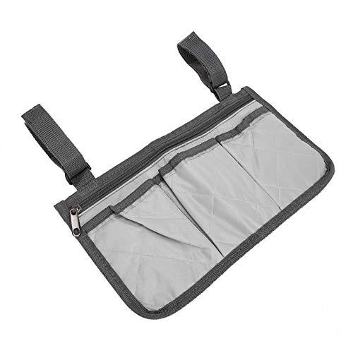 Leichte, strapazierfähige Rollstuhl-Organizer Tragbare Rollstuhl-Tasche für Frauen und Männer für den Außenbereich zum Aufbewahren von Mobiltelefonen(Gray)