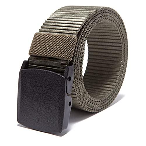 SSMDYLYM Hebilla automática Cinturón de nylon Ejército Masculino Cinturón Táctico Hombre Cintura militar Cinturones de lona alta (Color : A)