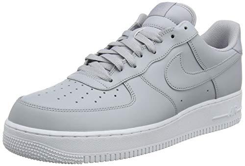 Nike Air Force 1 '07, Zapatos de Baloncesto para Hombre, Wolf Grey/Wolf Grey-White, 51.5 EU