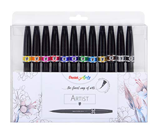 Estuche Pentel punta de Pincel Brush Sign Pen Artist