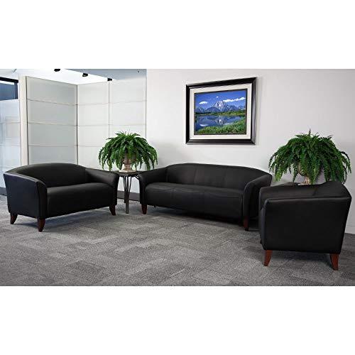 Flash Furniture HERCULES Imperial Series Black LeatherSoft Sofa
