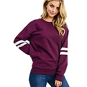 Women's Ultra Soft Fleece Lightweight Casual Sweatshirt