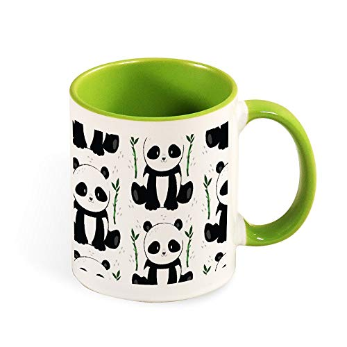Panda Sitting With Bamboo Pattern Best Funny Coffee Mug Sarcastic Novelty Cup Joke Great Gift Idea For Men Women Office Work Adult Humor Employee Boss Coworkers 11 Oz 6 Colors
