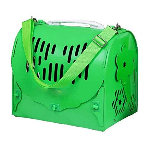 HLR Pet Carrier Opvouwbare Huisdier BagTravel Carrier - Voordeur Plastic Inklapbare Carrier Collection Geschikt voor Wandelen Camping, Groen