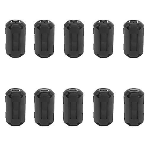GEEKEN Paquete de 10 Filtros Supresores de Ruido de 5 Mm de DiáMetro una PresióN en el NúCleo con Anillo de Cuentas para Cable HDMI, Cables Industriales