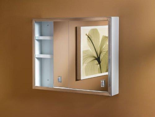 Jensen B704850 Contempora Medicine Cabinet, 24-Inch by 19-Inch, Stainless Steel