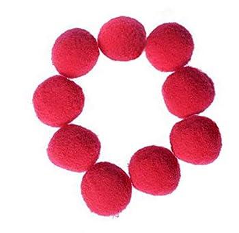 Xelparuc 20pcs 4,6cm Balles de jouet pour chat doux Chaton Jouets Boule de Pompon