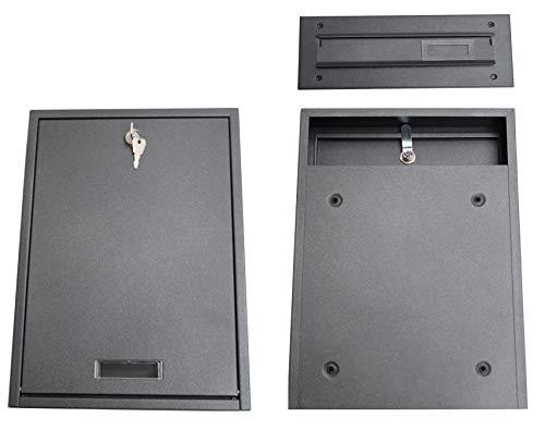 Mauerdurchwurf Innentür Briefkasten Grafit Türbriefkasten Durchwurf C4