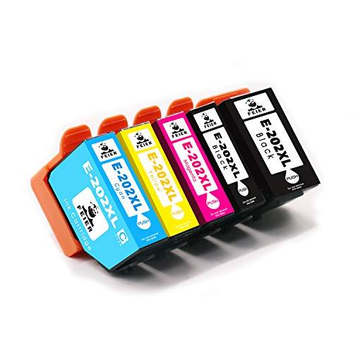 feier 202XL Recambio cartuchos de tinta Epson 202XL 202 XL Compatibles con Impresoras Epson Expression Premium XP-6000 XP-6005 XP-6100 XP-6105 XP6000 XP6005 XP6100 XP6105