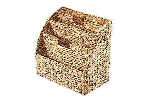 Kobolo Zeitungsständer Zeitungskorb aus Wasserhyazinthe - 40x25x41 cm