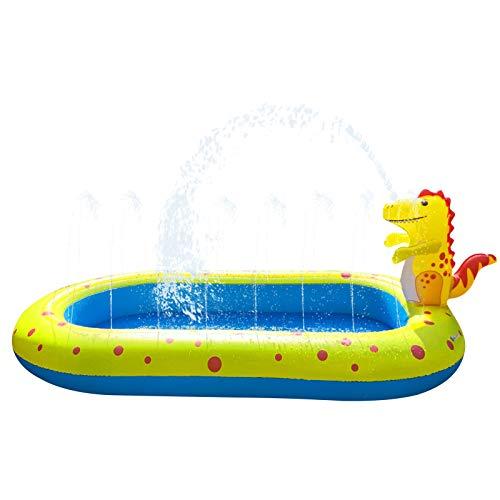 LVYE1 MRMF Piscina Inflable para Niños, Centro De Juegos De Agua Inflable con Agua En Aerosol, Juguetes De Agua con Aspersor para Piscina Infantil Segura Y Gruesa, 67'X 41' X 26'