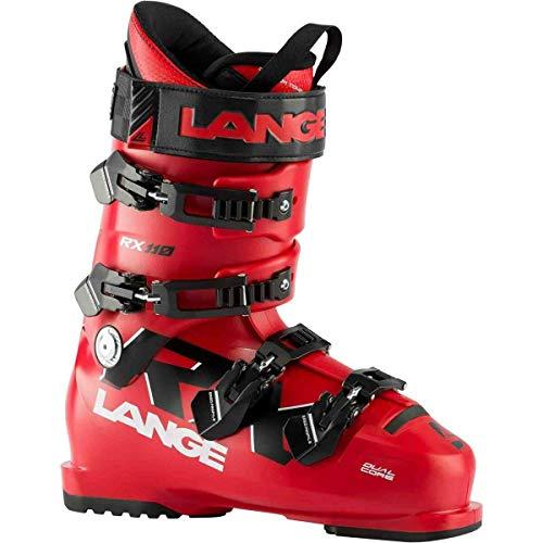 Lange RX 110 - Stivali da sci, adulti, unisex, rosso nero, 26.5 Mondopoint (cm)