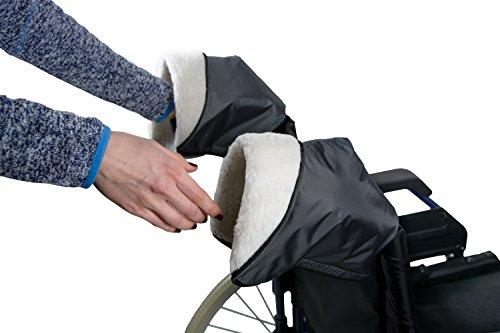 Pflegehome24® Rollator-Handschuhe Rollstuhl Handschuhe, 1 Paar