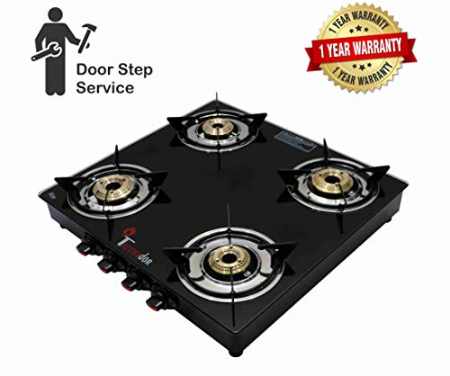 Thermador Toughened Glass Top, Brass Burner Gas Stove PNG Use Only (4 BUNRER MANUAL)