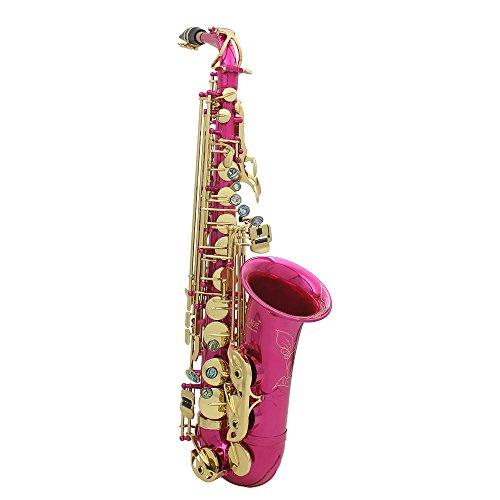 LADE Saxofón Eb E-Flat Alto Latón Grabado Botones