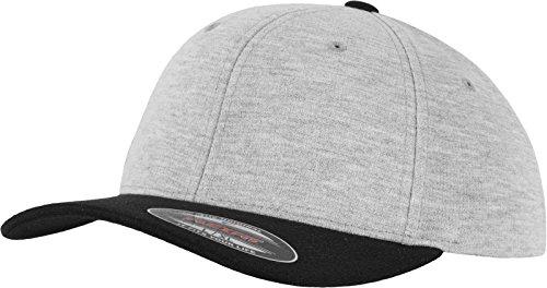 Flexfit Double Jersey 2-Tone Cap, Gry/Blk, L/XL