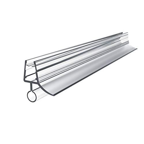Ersatzdichtung Wasserabweiser Duschdichtung Schwallschutz Duschkabine Bad 7-8mm Glas 80cm