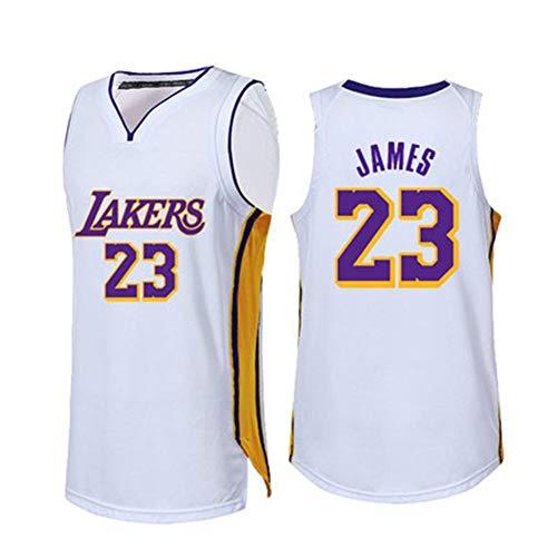 Gwgbxx James NBA Camisetas Uniformes Ropa Lakers De Baloncesto De Los Deportes De Verano Chaleco Masculino (Color : White 23, Size : XXXX-Large)