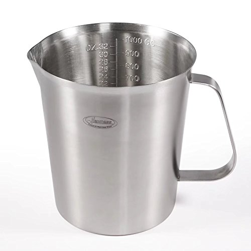 Measuring Cup, Newness Stainless Steel Measuring Cup with Marking with Handle, 32 Ounces (1.0 Liter, 4 Cup)